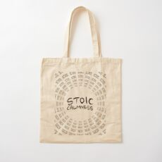 Stoic Calmness - Find Your Calm - Resist Anger Cotton Tote Bag
