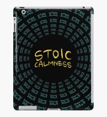 Stoic Calmness - Find Your Calm - Resist Anger iPad Case/Skin