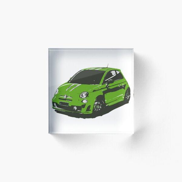 FIAT 500 Abarth - Cute Little Italian City Car Acrylic Block