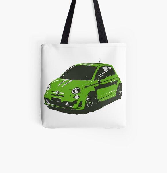 FIAT 500 Abarth - Cute Little Italian City Car All Over Print Tote Bag
