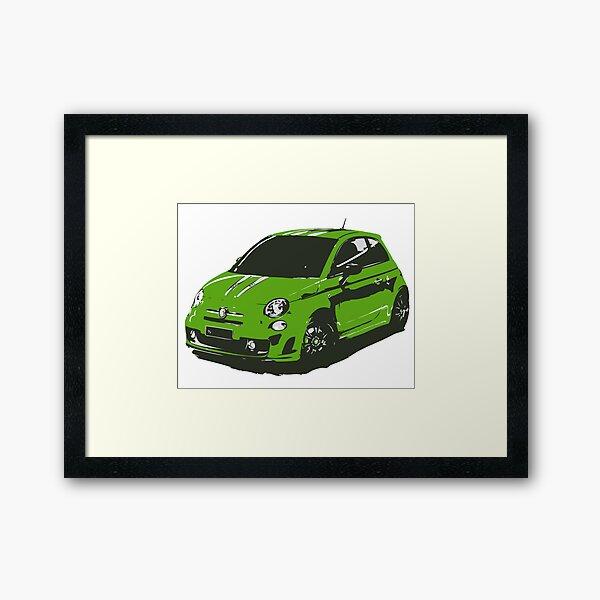 FIAT 500 Abarth - Cute Little Italian City Car Framed Art Print