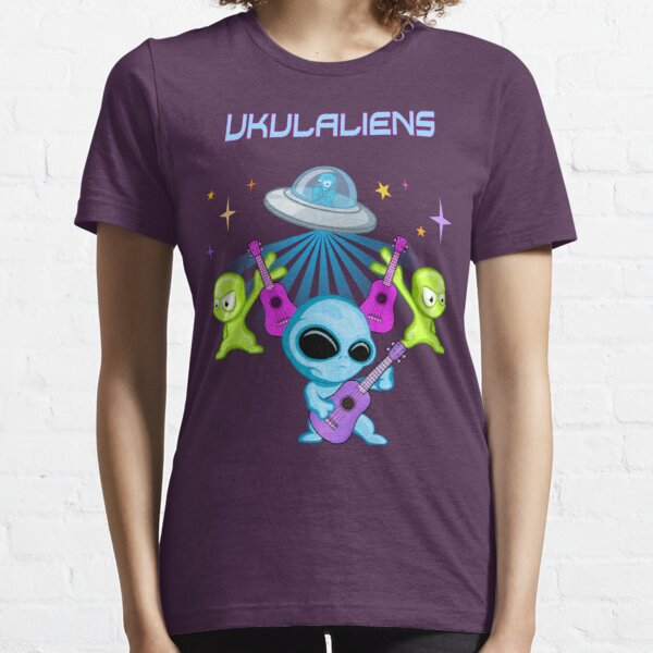Ukulaliens Ukulele Club Original Logo With Text Essential T-Shirt