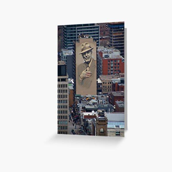 Leonard Cohen Mural Montreal Greeting Card