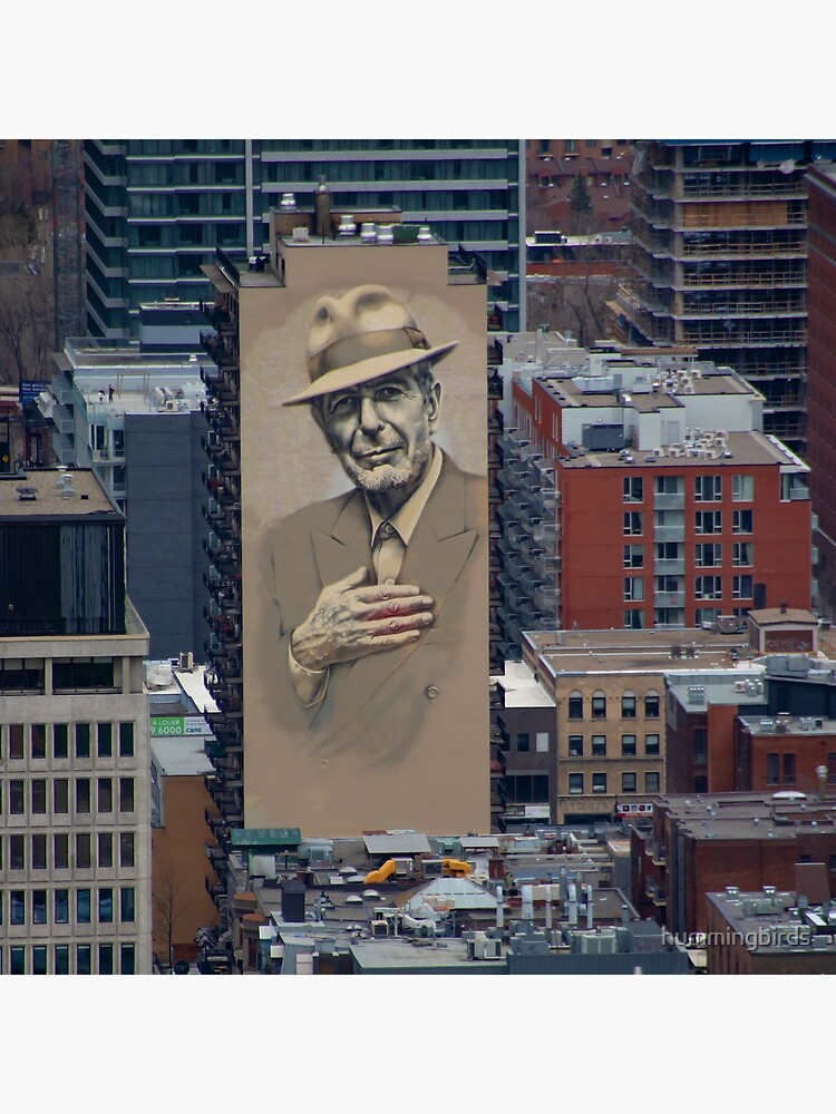 Leonard Cohen Mural Montreal by hummingbirds