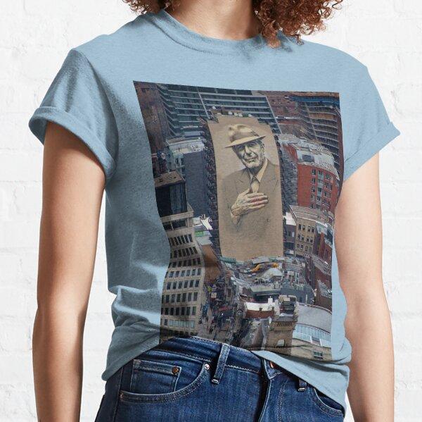 Leonard Cohen Mural Montreal Classic T-Shirt