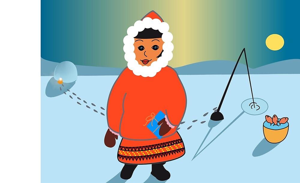 Lapland Christmas Card by katemaindonald
