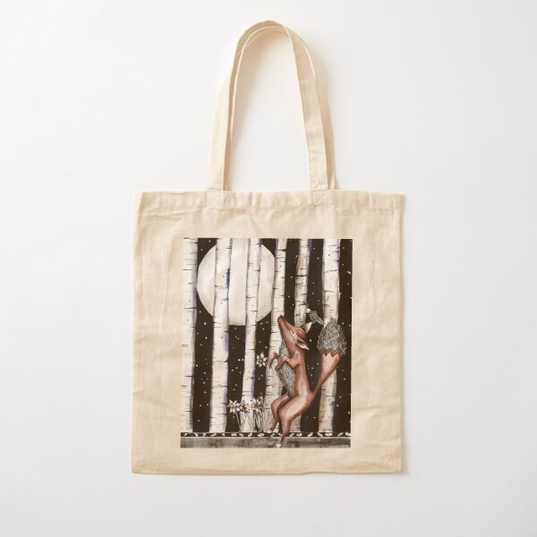 The fox trot Cotton Tote Bag