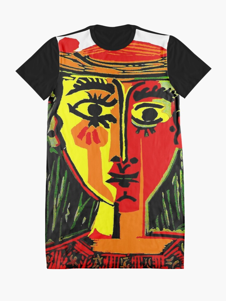 Alternate view of LADY in RED : Vintage Abstract Fantasy Painting Print Graphic T-Shirt Dress