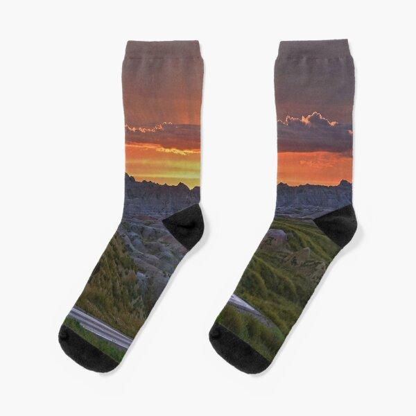 Sunset, Badlands National Park Socks
