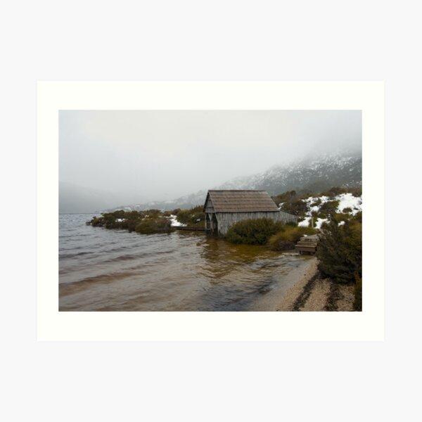 Ready to snow - Dove Lake Cradle Mountain Tasmania Art Print