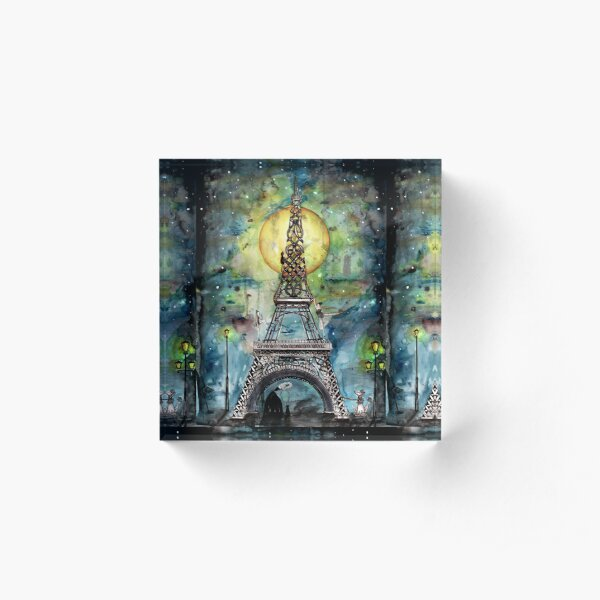 Paris... only light destroys darkness Acrylic Block
