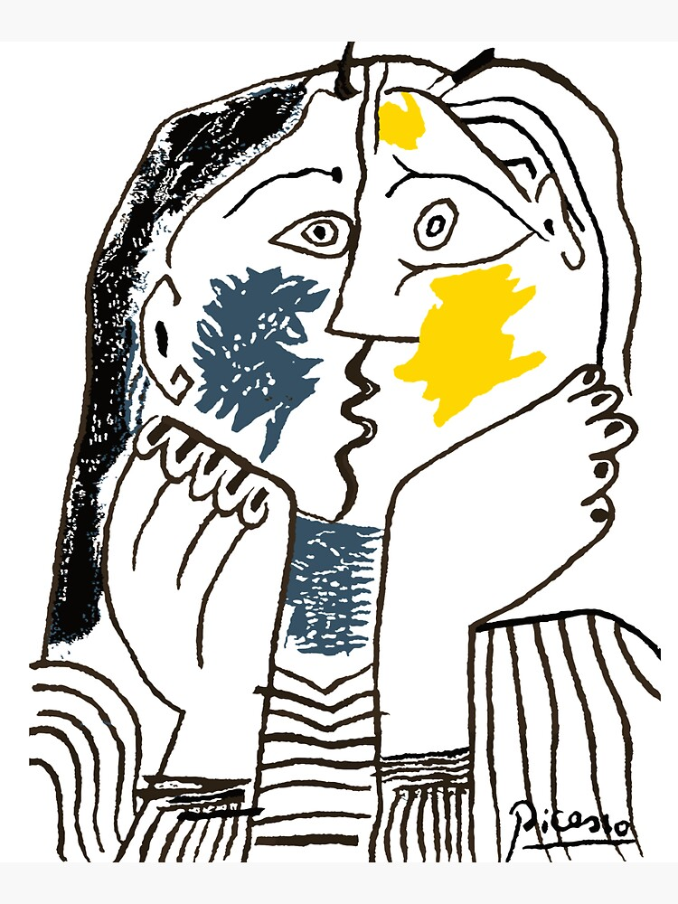 Pablo Picasso The Kiss 1979 Artwork Reproduction For T Shirt, Framed Prints by clothorama