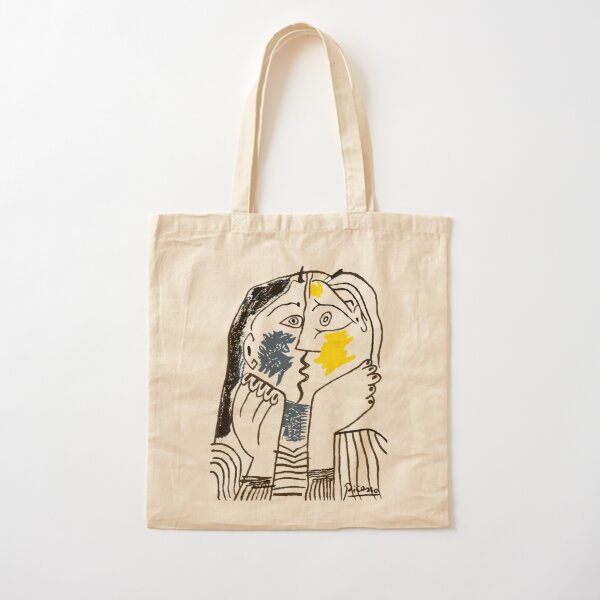 Pablo Picasso The Kiss 1979 Artwork Reproduction For T Shirt, Framed Prints Cotton Tote Bag