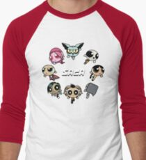 Saga Puffs Parody Men's Baseball ¾ T-Shirt