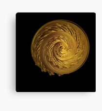 Incendia Sacred Gold Collection -- The Eternal Spiral Canvas Print