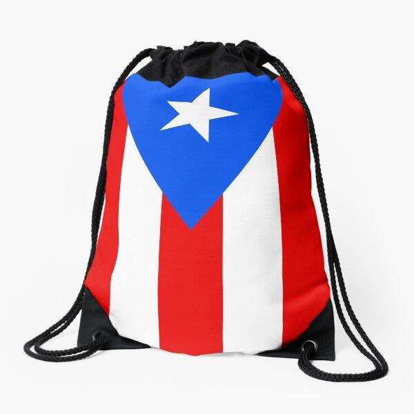 Puerto Rico Flag Duvet Bedspread Drawstring Bag
