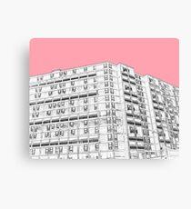 Park Hill Sheffield Pink Canvas Print