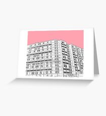 Park Hill Sheffield Pink Greeting Card