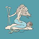Tattoo mermaid yarn knitting needles by BigMRanch
