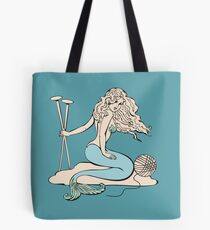 Tattoo mermaid yarn knitting needles Tote Bag