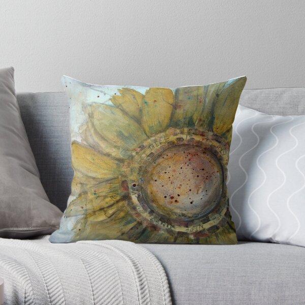 Flower grunge Throw Pillow