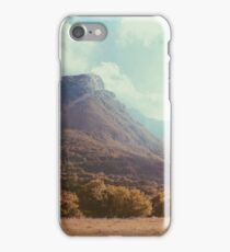 Mountains in the background V iPhone Case/Skin