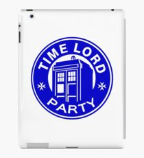 time lord party iPad Case/Skin