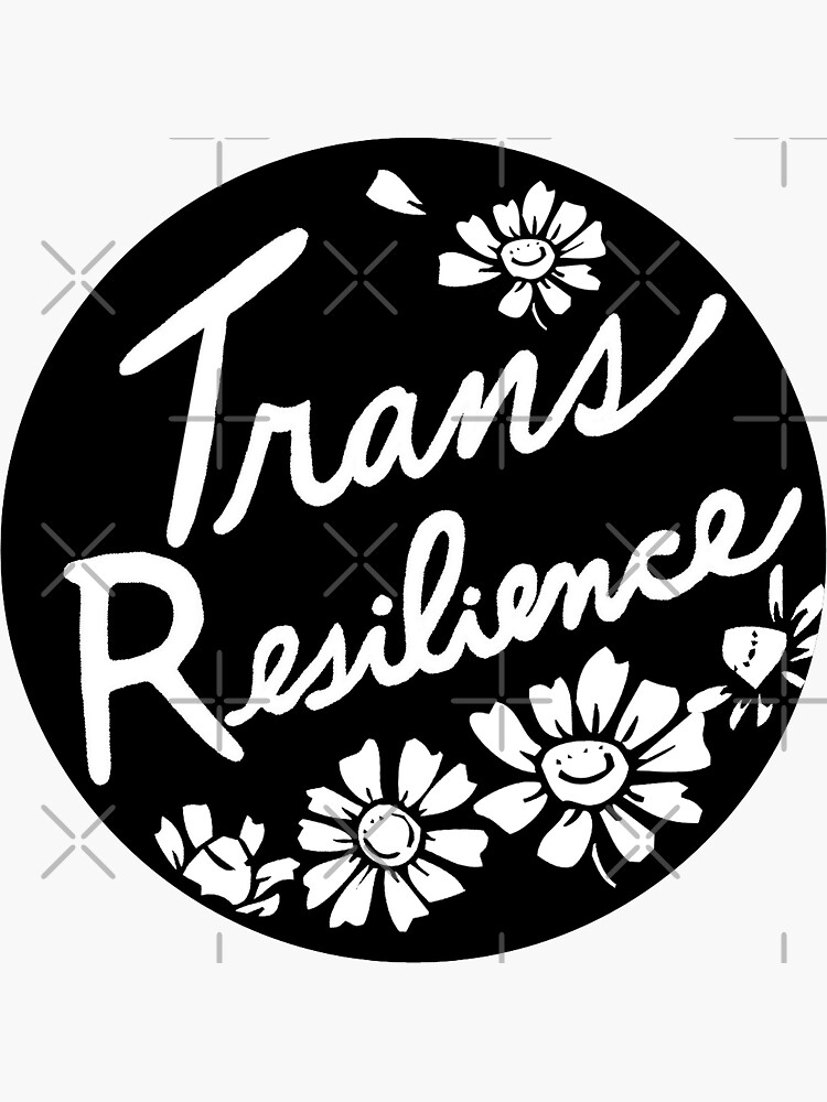trans resilience | floral chamomile illustration by craftordiy