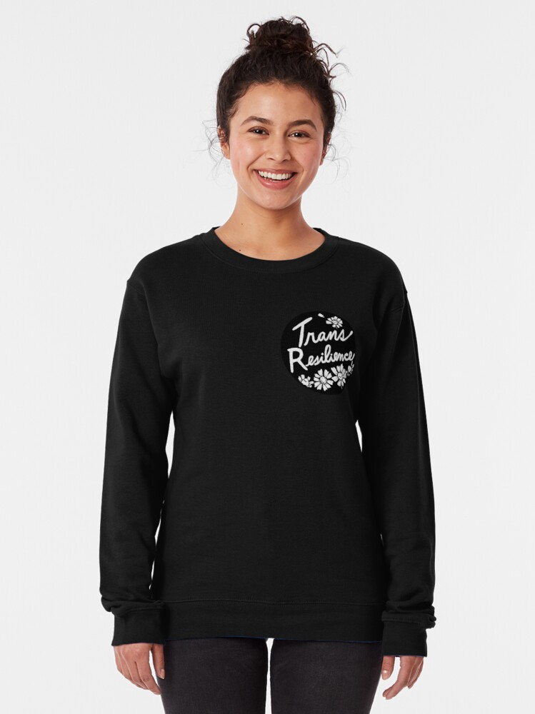 Alternate view of trans resilience   floral chamomile illustration Pullover Sweatshirt