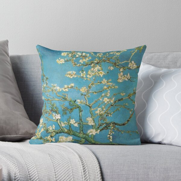 Vincent van Gogh, Blossoming Almond Tree Throw Pillow