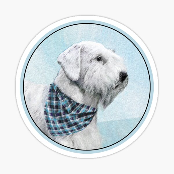 Sealyham Terrier Painting - Cute Original Dog Art Sticker