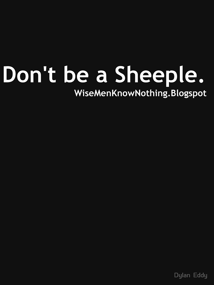Don't be a sheeple. White by djupitere