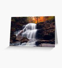 Fading October Daylight at Shawnee Falls Greeting Card