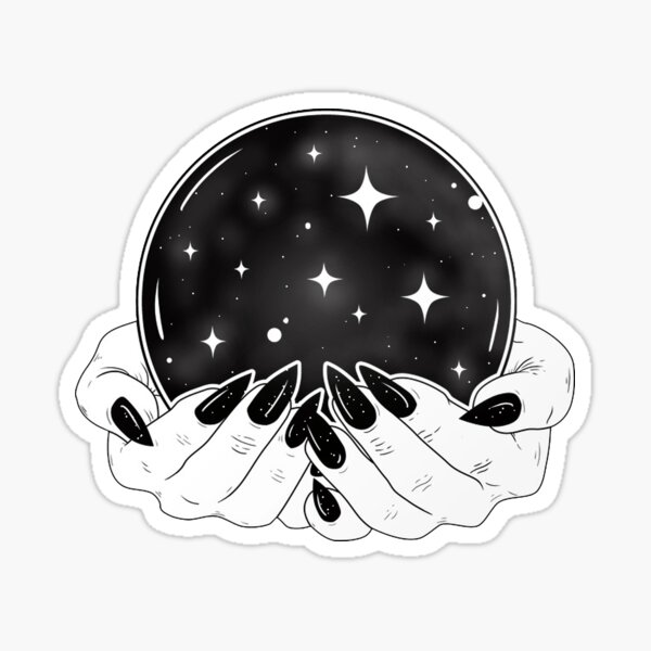Crystal Ball - Witch Hands Sticker