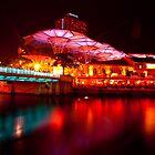 Night View in Clarke Quay by Wey Hun Tan