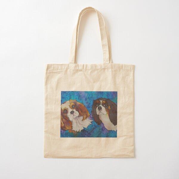 Cavalier King Charles Spaniels Cotton Tote Bag