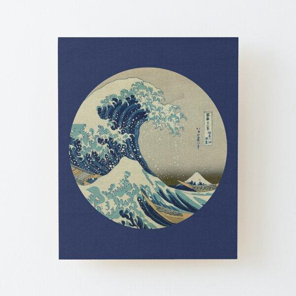 Große Welle vor dem Kanagawa-Kreis Aufgezogener Druck auf Holz
