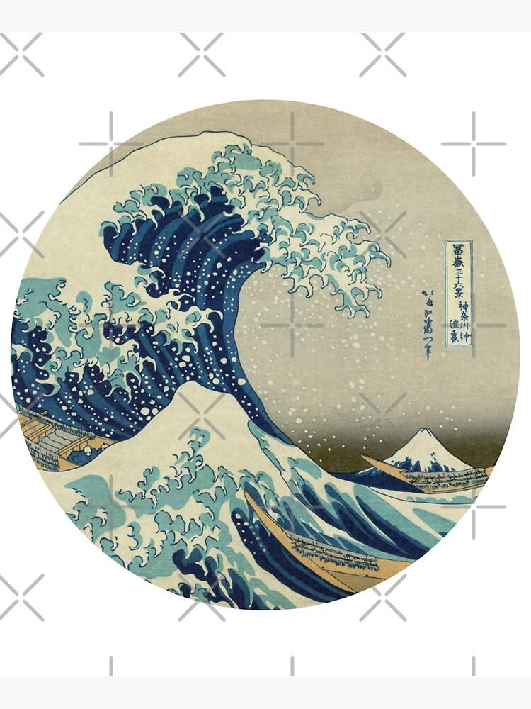 Great Wave off Kanagawa circle by monsterplanet