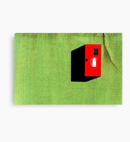 Red :: Green :: Black Shadow Canvas Print