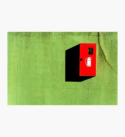 Red :: Green :: Black Shadow Photographic Print