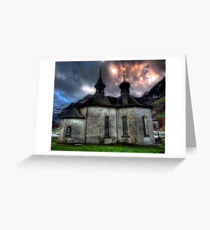 Chapel On The Hill. Greeting Card