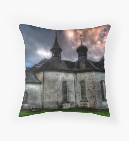 Chapel On The Hill. Throw Pillow