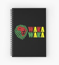 Red lion green mane waka waka geek funny nerd Spiral Notebook
