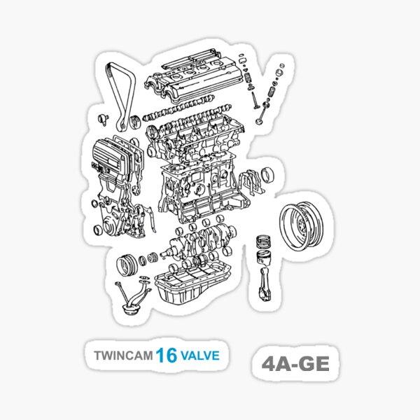 Toyota 4A-GE Explode Sticker