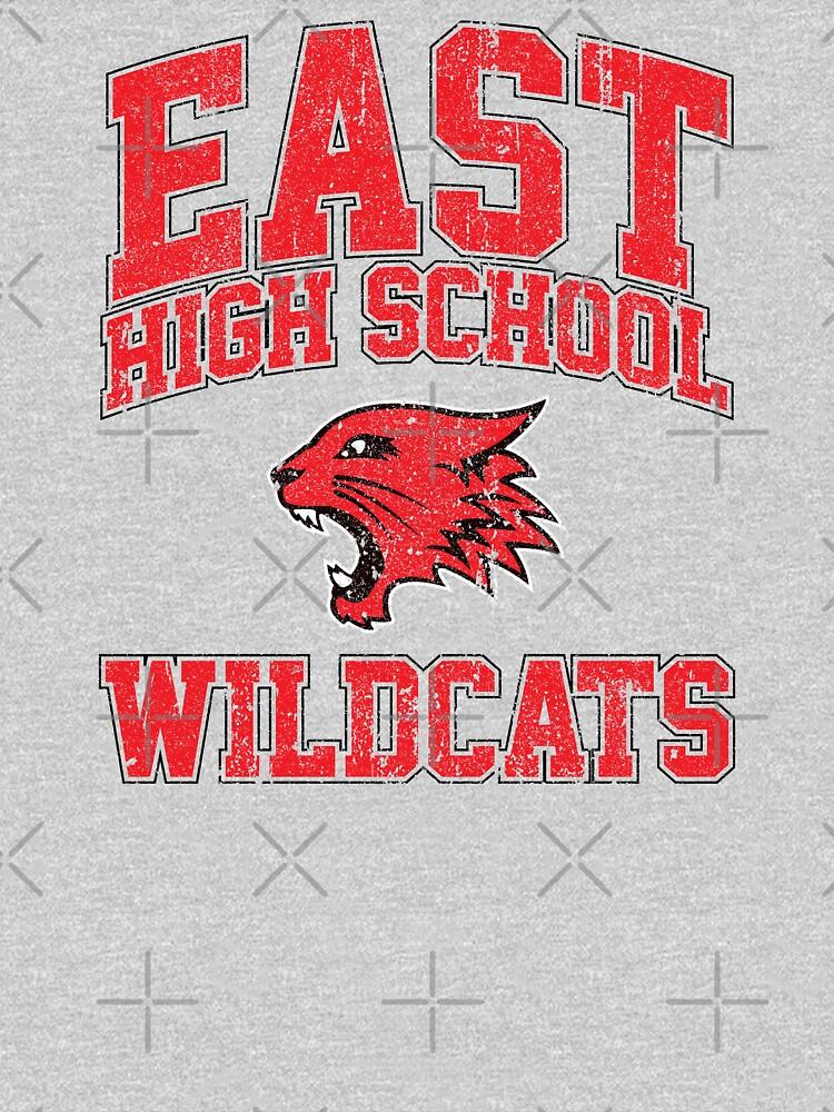 East High School Wildcats (Variant) by huckblade