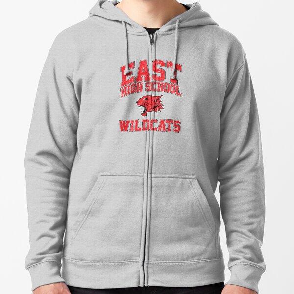 East High School Wildcats (Variant) Zipped Hoodie