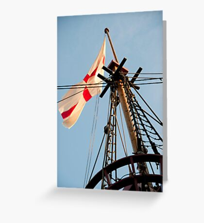 The Crow's Nest: Golden Hinde, London Greeting Card