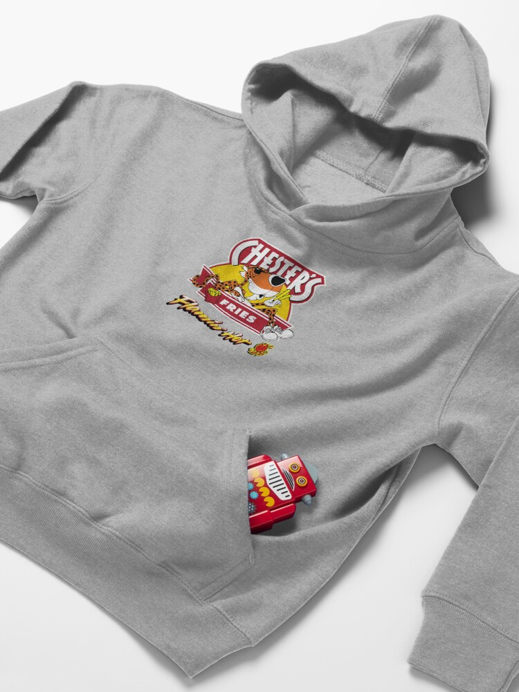 Alternate view of Chester's Flamin Hot Fries  Kids Pullover Hoodie