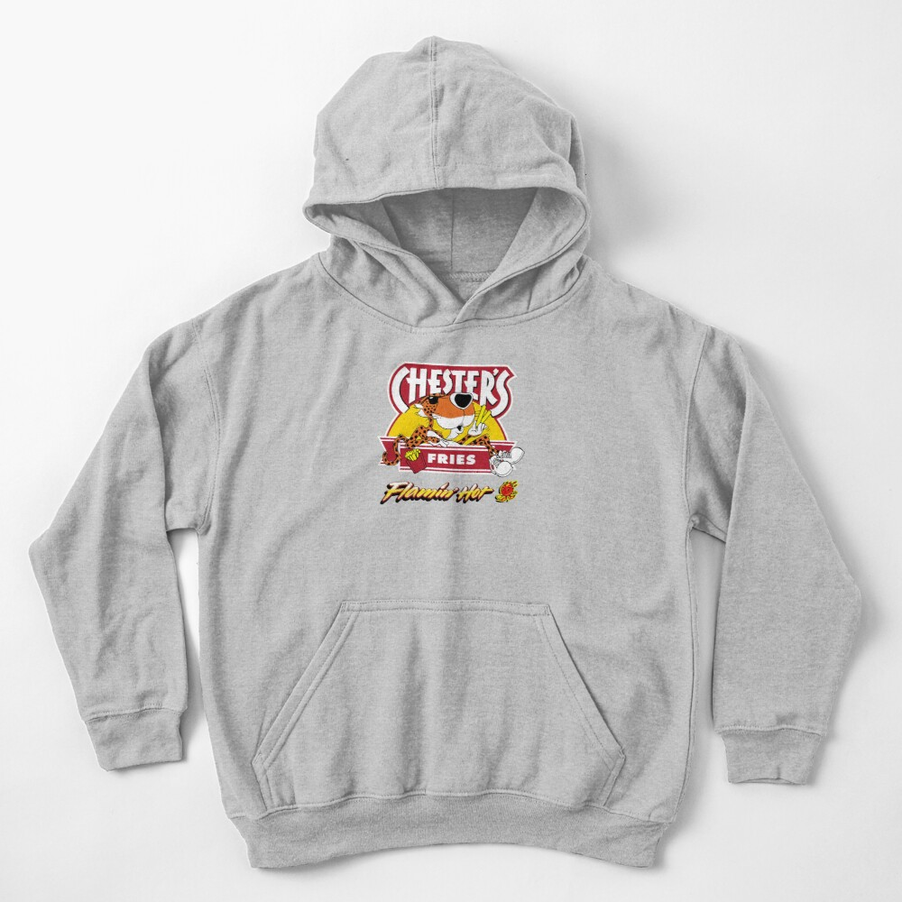 Chester's Flamin Hot Fries  Kids Pullover Hoodie