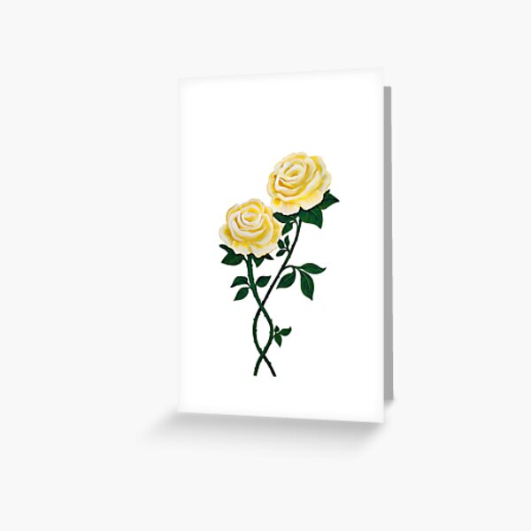 Two Yellow Roses Greeting Card